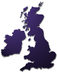 map covered by close up magicians UK