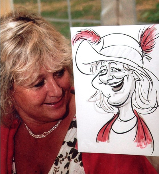 wedding caricaturist in London UK