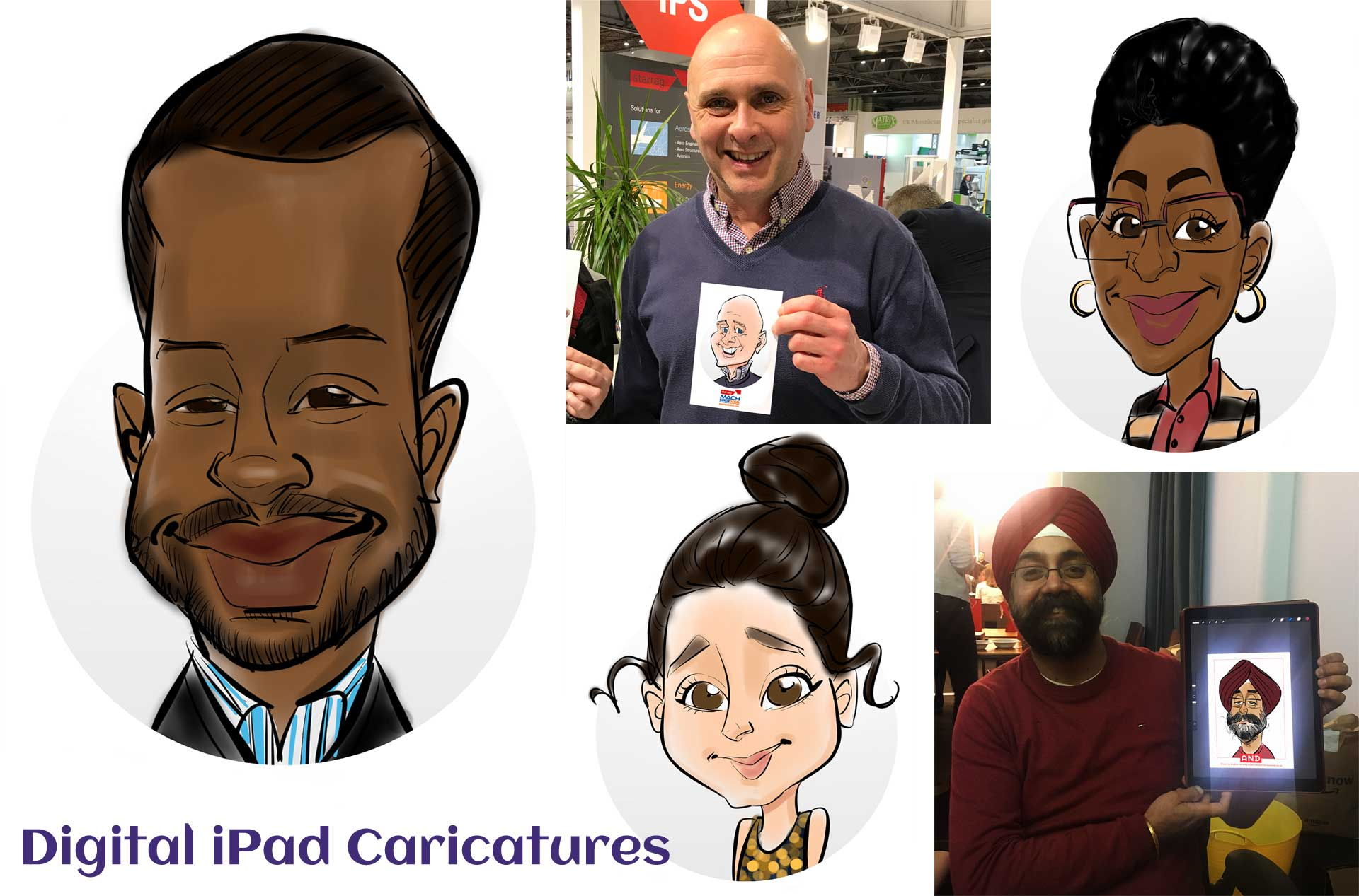 iPad-Caricatures-Live